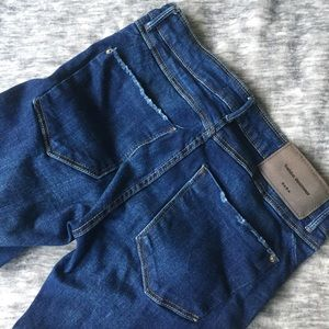 Zara TRF Distressed Denim Size 34